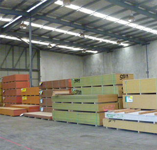 Warehouse of roof timber near Perth